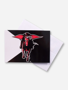 Texas Tech Masked Rider Graphic Photo Card