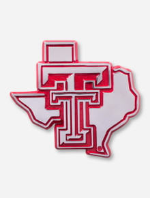 Texas Tech Chrome and Red Lone Star Pride Emblem
