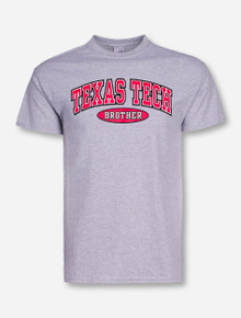 Texas Tech Brother in Oval on Heather-Grey T-Shirt