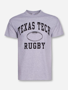 Texas Tech Rugby on Heather Grey T-Shirt