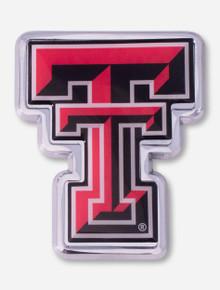Texas Tech Full Color Double T Car Emblem