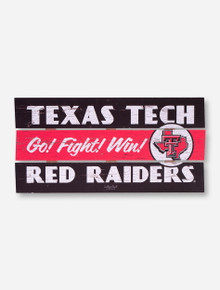 Texas Tech Go Fight Win Wood Sign