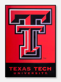"Double T & Texas Tech University Red & Black 28"" x 40"" Banner"