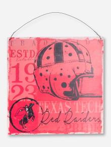 Texas Tech Vintage Helmet on Tin Sign