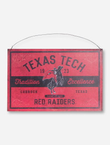Texas Tech Tradition and Excellence Red Tin Sign
