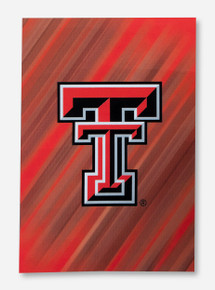 """Texas Tech Double T on Streaked Red Suede 29"""" x 43"""" Flag"""