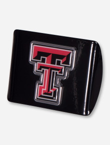 Texas Tech Full Color Double T on Black Hitch Cover
