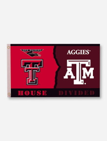 House Divided: TTU/A&M Red & Maroon 3' x 5' Flag