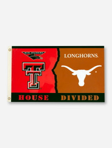 House Divided: TTU/UT Red & Orange 3' x 5' Flag