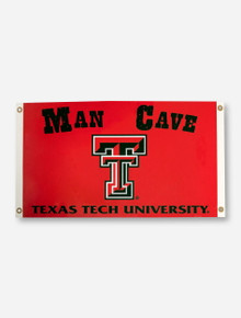 Texas Tech Man Cave & Double T on Red 3' x 5' Flag