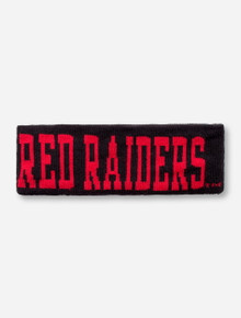 The Game Texas Tech Red Raiders in Red on Black Knit Ear Warmer