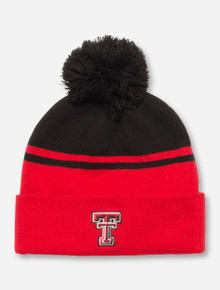 "Under Armour Texas Tech ""Velocity"" Red and Black Striped Beanie"