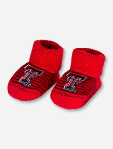 Texas Tech Double T on INFANT Striped Red Booties