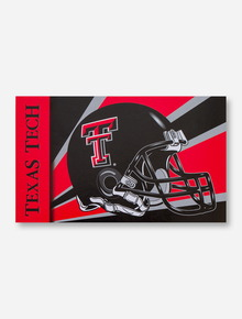 Texas Tech Helmet Starburst Red & Black 3' x 5' Flag