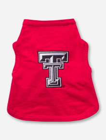 Texas Tech Double T on Red Dog Shirt