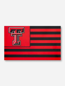 United States of TTU Black & Red 3' x 5' Silk Screen Flag