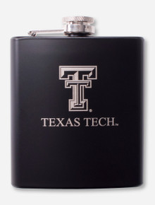 Texas Tech Double T Laser Engraved Metal Flask