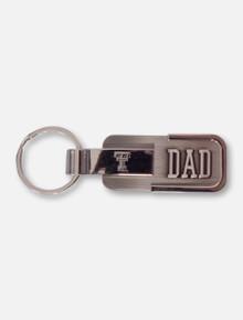 Texas Tech Dad Metal Engraved Keychain
