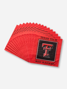 Texas Tech Red Raiders Double T on Red Bordered Napkin