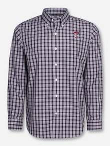"Cutter & Buck Texas Tech ""Discovery Park"" Plaid Long Sleeve Dress Shirt"