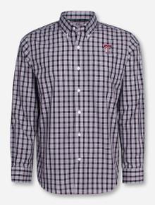 """Cutter & Buck Texas Tech """"Discovery Park"""" Plaid Long Sleeve Dress Shirt"""