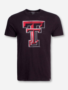 "47 Brand Texas Tech ""Jet Black"" Vintage Double T Black T-Shirt"