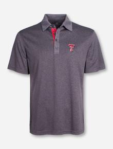 "Levelwear Texas Tech ""Affirmed"" Grey Striped Polo"