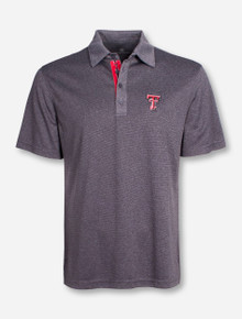 "Levelwear Texas Tech ""Affirmed"" Grey Striped Polo"