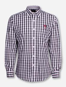 """Antigua Texas Tech """"Alliance"""" Checkered Long Sleeve Dress Shirt"""