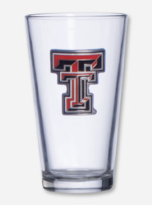 Texas Tech Full Color Double T Emblem on Pint Glass