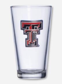 Texas Tech Full Color Double T Emblem on Pint Glass