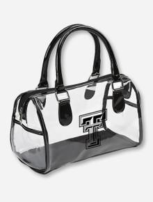Texas Tech Double T on Clear Satchel Handbag