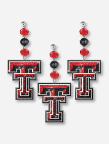 Texas Tech Glimmer Double T Clip on Charms