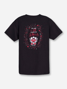Texas Tech Made of Stars on YOUTH Black T-Shirt