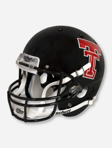 Schutt Texas Tech '93 - '99 Throwback Double T Zach Thomas Black Replica Helmet