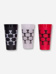 Texas Tech 3 Pack of Plastic Cups