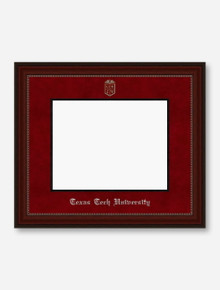 Silver Embossed Cherry Bead Red Suede Diploma Frame T3
