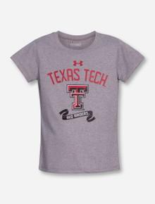 "Under Armour Texas Tech ""Banner Year"" GIRL'S Heather Grey T-Shirt"