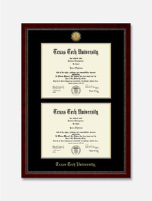 Gold Engraved Signature Double Diploma Frame C7
