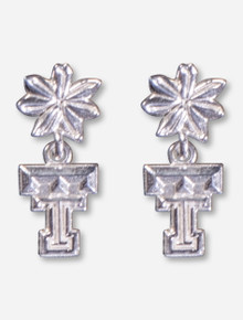 DaynaU Texas Tech Double T Flower Earrings