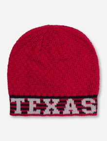 The Game Texas Tech Red Checkerboard Knit Beanie