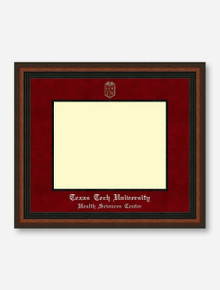 HSC PhD Silver Embossed Mahogany Rope Red Suede Diploma Frame T11