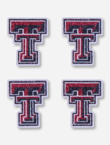 Texas Tech Glitter Double T Body Stickers