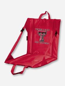 Logo Texas Tech Double T on Red Stadium Seat