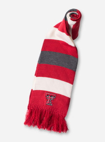 Texas Tech Double T Striped Knitted Scarf