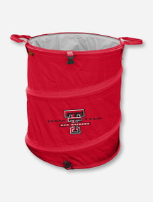 Logo Texas Tech Collapsible 3-in-1 Red Trash Bin / Hamper / Cooler