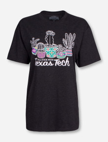 Stick with Texas Tech on Heather Charcoal T-Shirt
