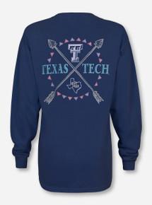 Texas Tech Inner Circle Tribal on China Blue Long Sleeve Shirt