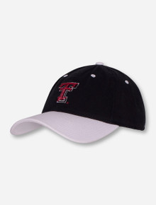 The Game Texas Tech Shimmer Double T Women's Black and White Adjustable Cap