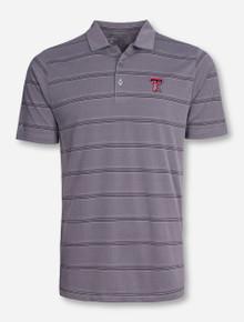 """Antigua Texas Tech """"Adept"""" Grey Striped Polo"""